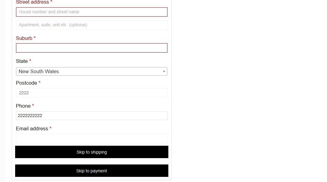 Checkout Quick Scroll for Woocommerce